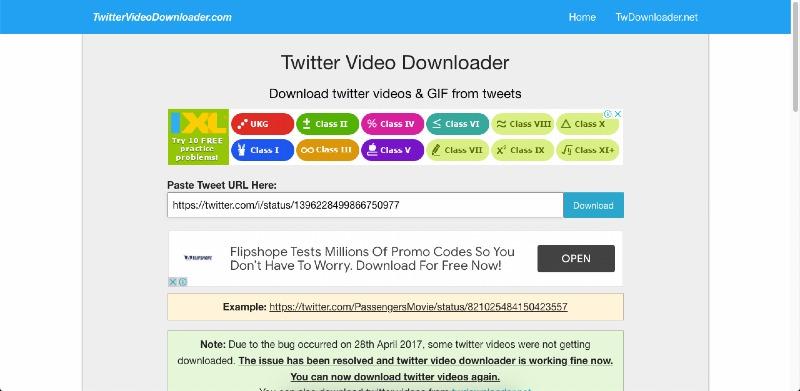 video downloader twitter