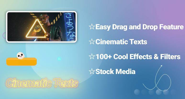 video editing features of filme
