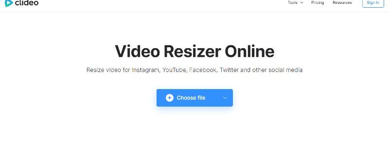 video resizer choose file