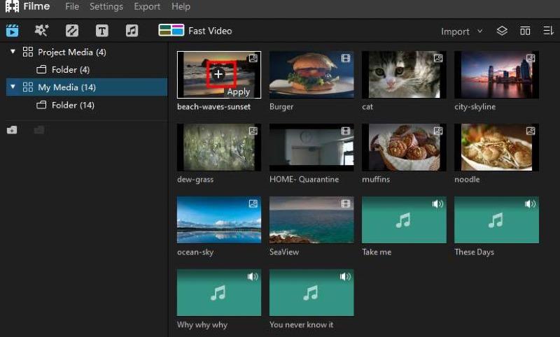 video timeline filme