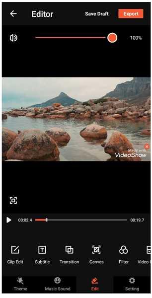 videoshow edit video