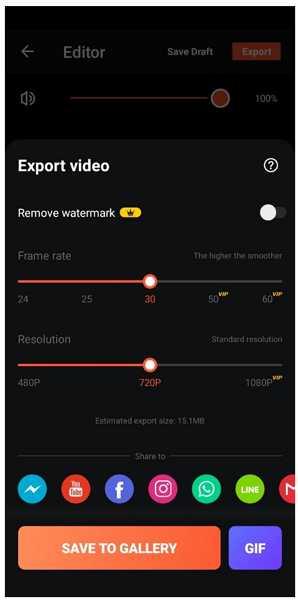videoshow export video