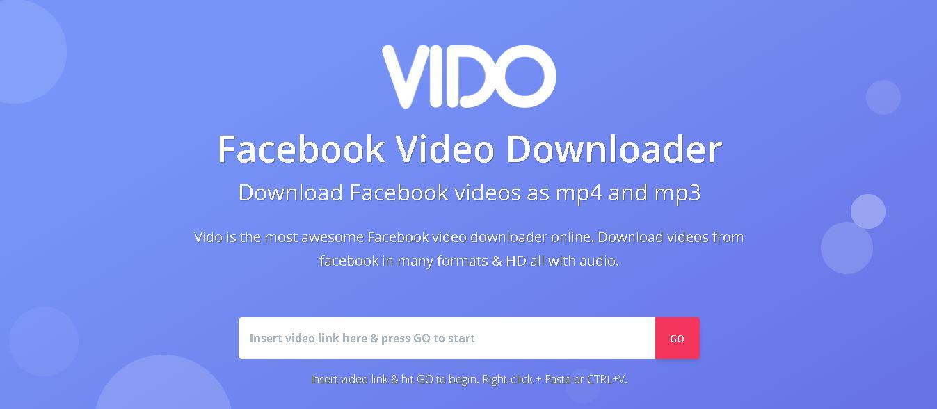 vido facebook video downloader