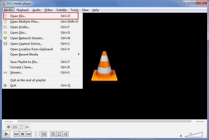 open file in vlc