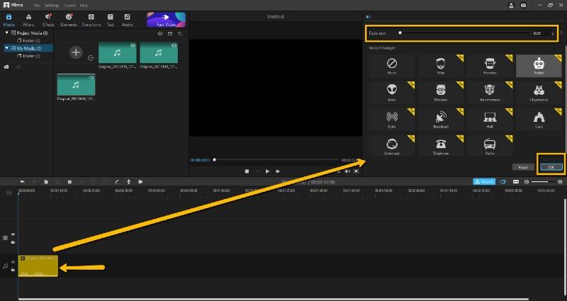 live robot voice changer on desktop imyfone filme
