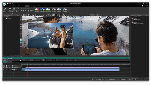 add gif to video vsdc specify gif