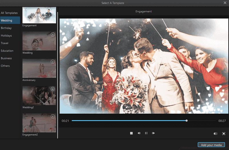 wedding templates in filme