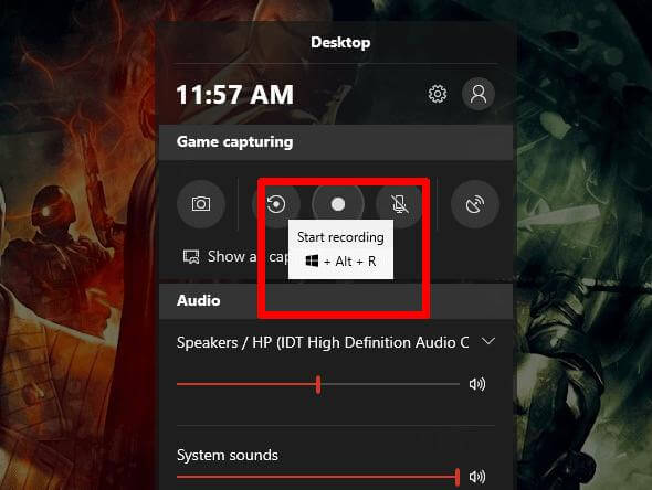 windows game bar recording