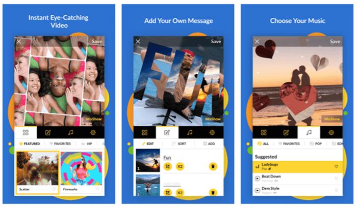 moshow app interface
