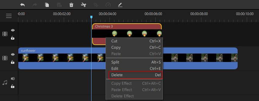 remove effect in filme