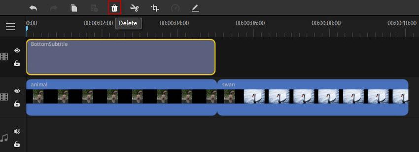 remove text in filme