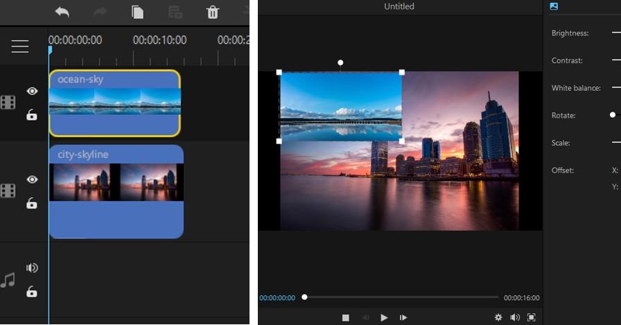 make picture-in-picture effect in filme