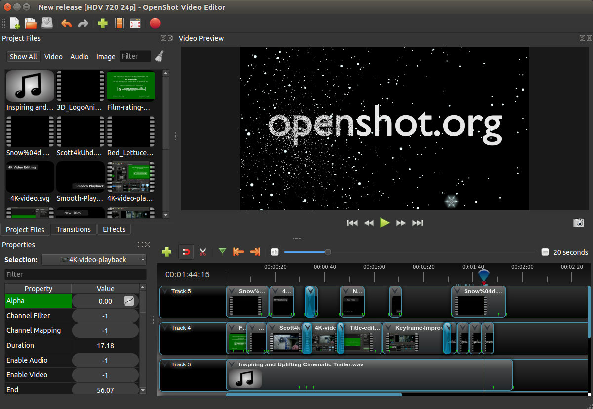 open shot video editor