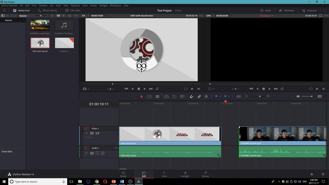 davinci resolve trim video