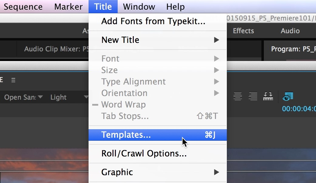 how to add text to a video in adobe premiere pro 15