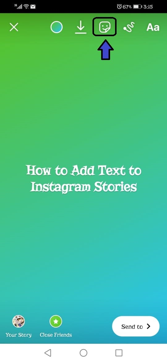 how to add text to instagram video 3