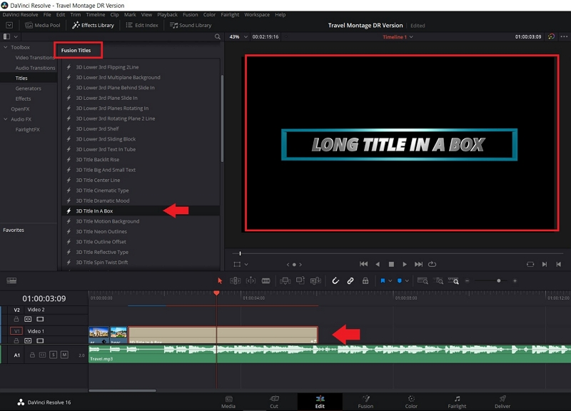 how to add text to video in davinci resolve 9