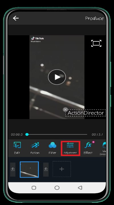 how to brighten a video on android 15