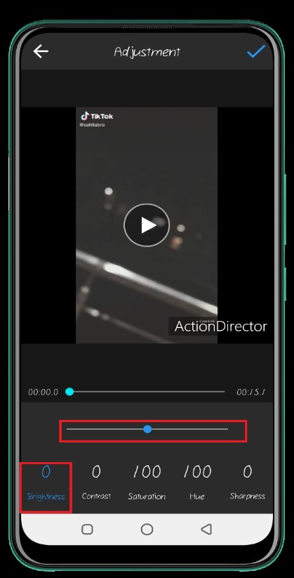 how to brighten a video on android 16