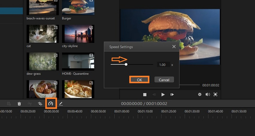 how to increase video speed filme-1