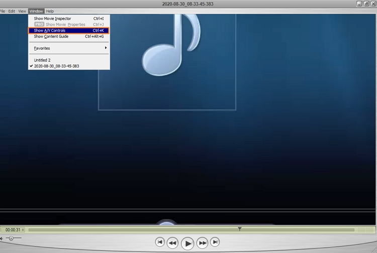 how to speedup videos on Quicktime player-2