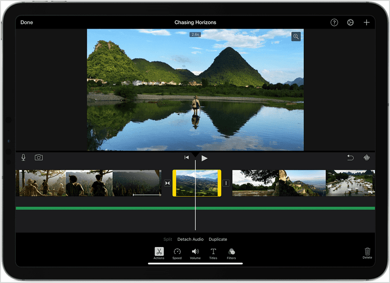 How to Speed Up a Video on iMovie on iPad