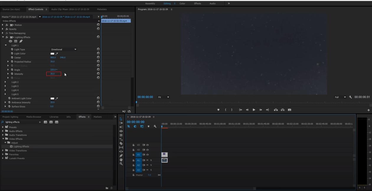 lighten dark footage adobe premiere pro 3