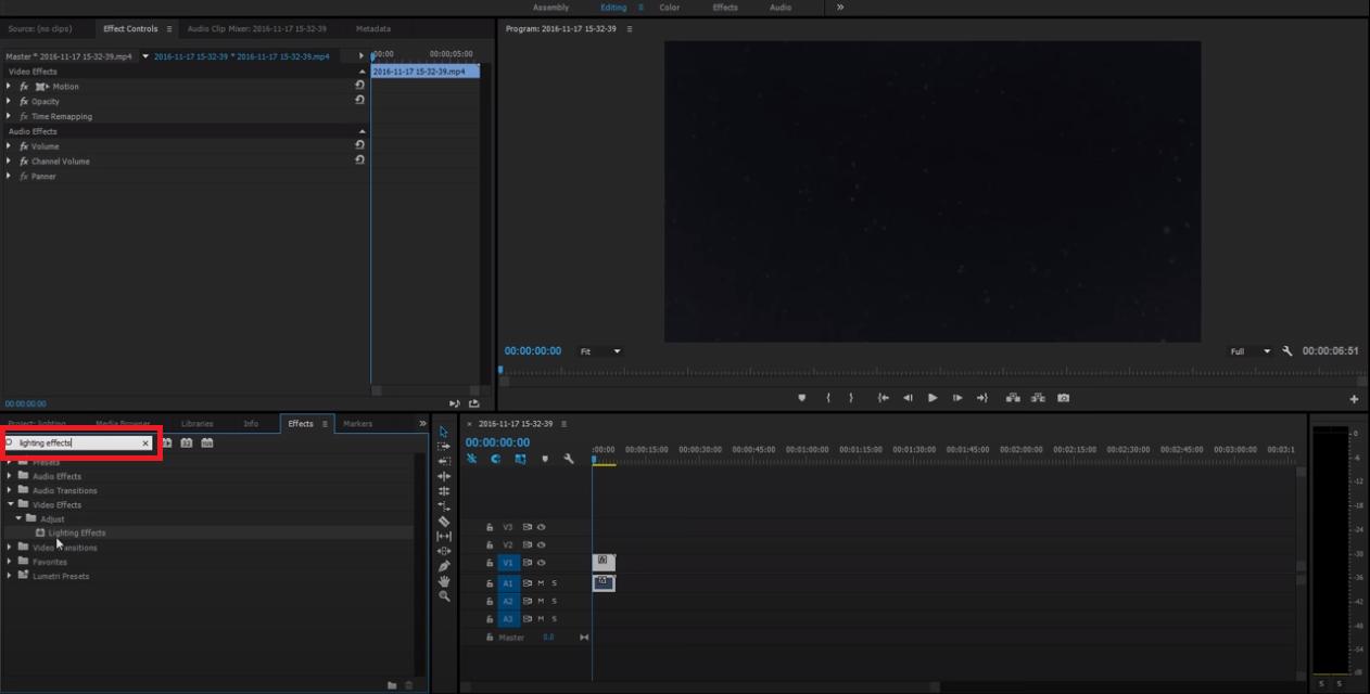 lighten dark footage adobe premiere pro