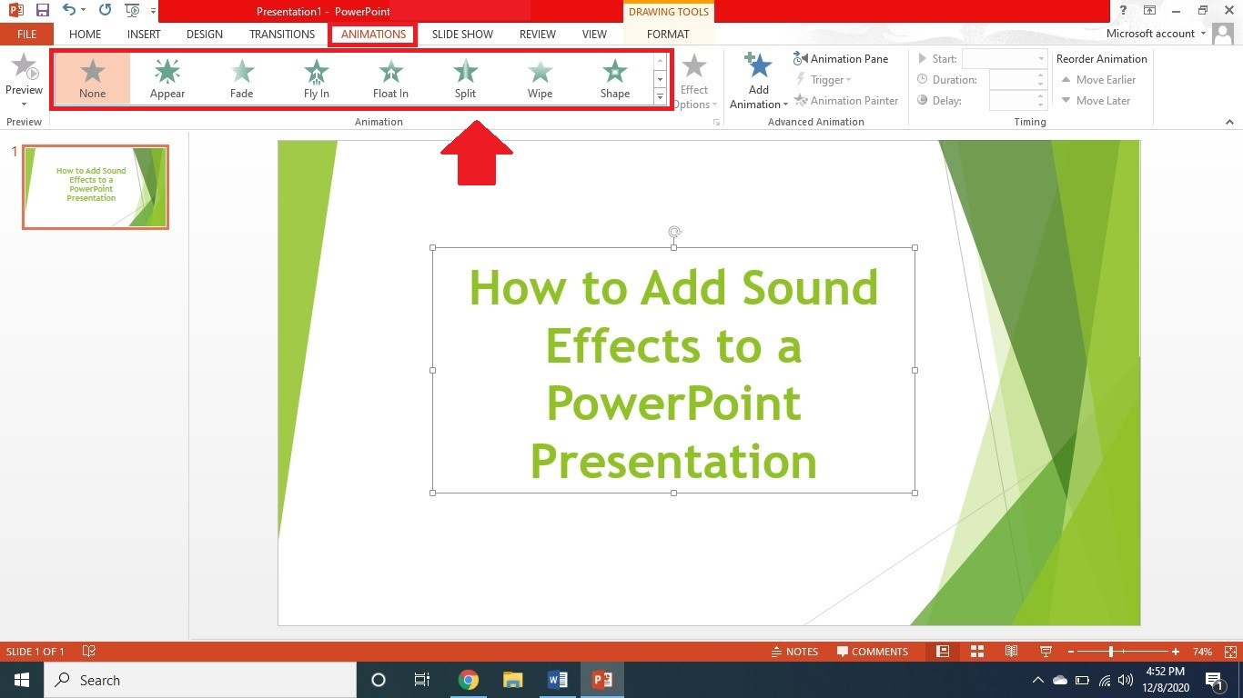 put sound effects to powerpoint 2
