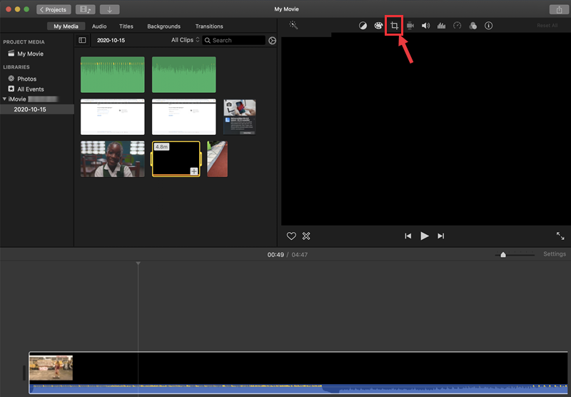 rotate video imovie
