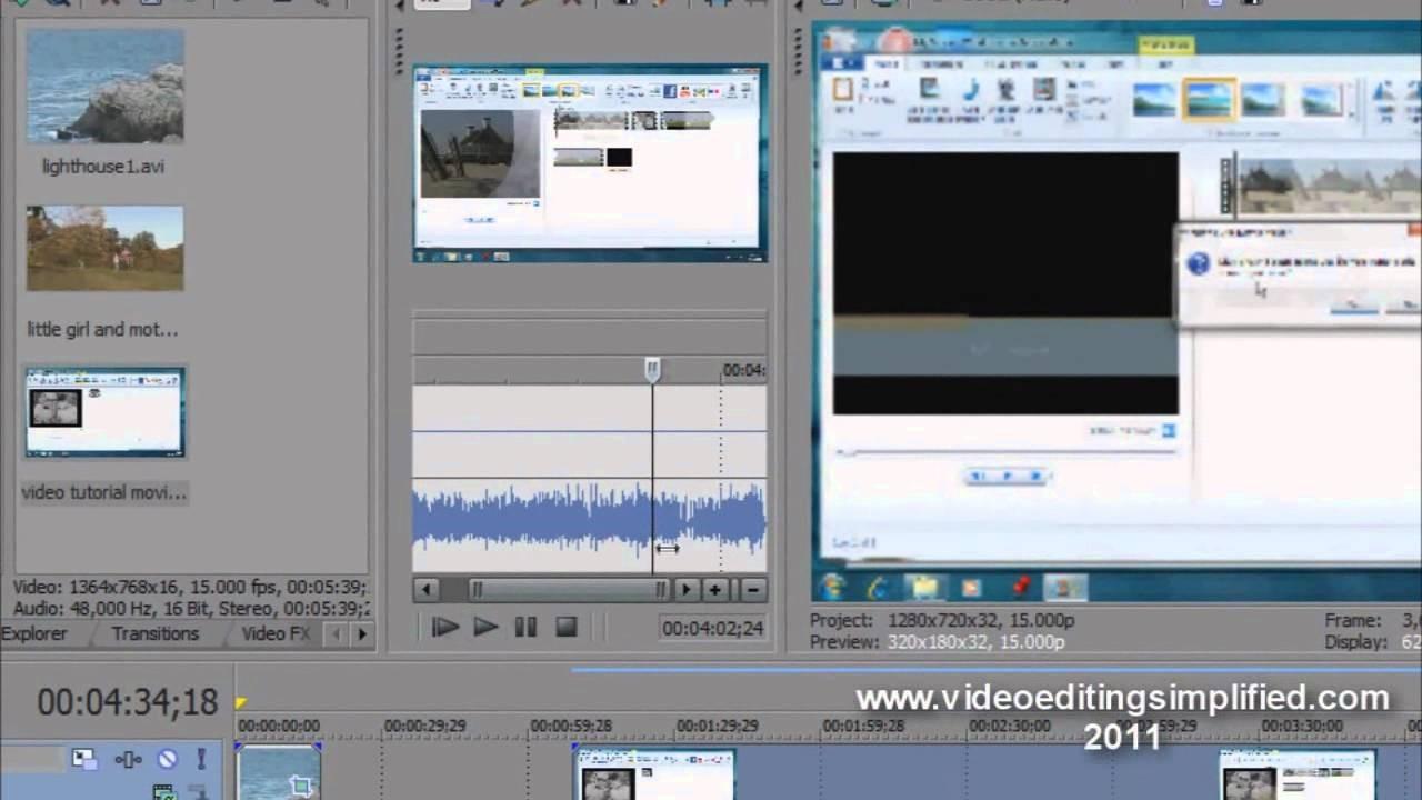 sony vegas trim video