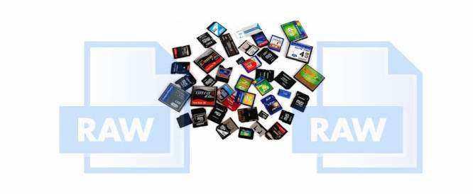 les cartes SD RAW