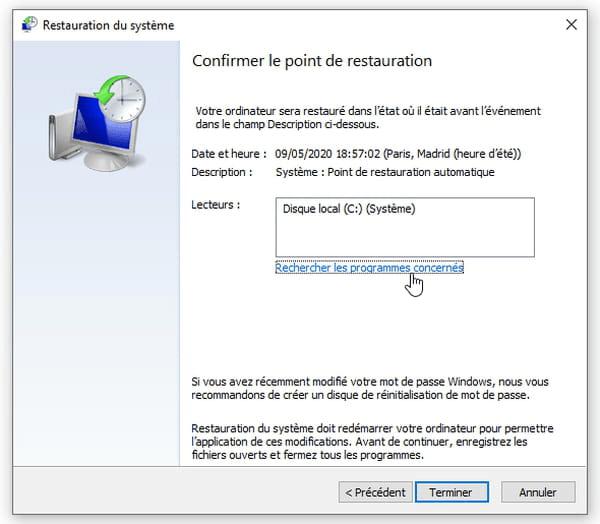 récupérer des fichiers avec système de sauvegarde