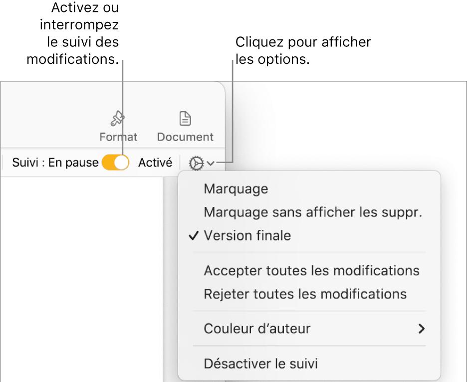 restaurer un document word écrasé en utilisant le suivi des modifications