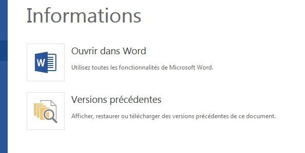 récupérer un document word sauvegardé depuis une version précédente