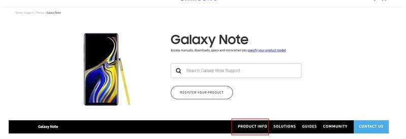 cliquer les infos de produit