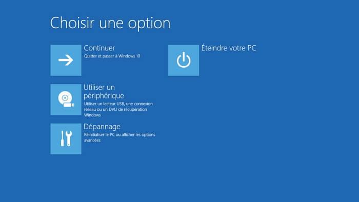 dépannage dans Windows