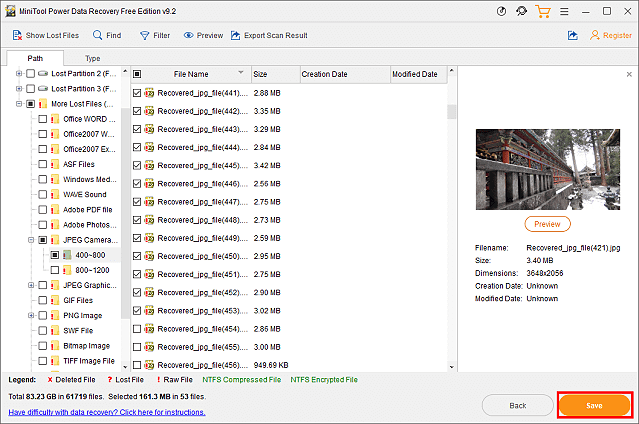 Power Data Recovery sauvegarder les données de la carte SD