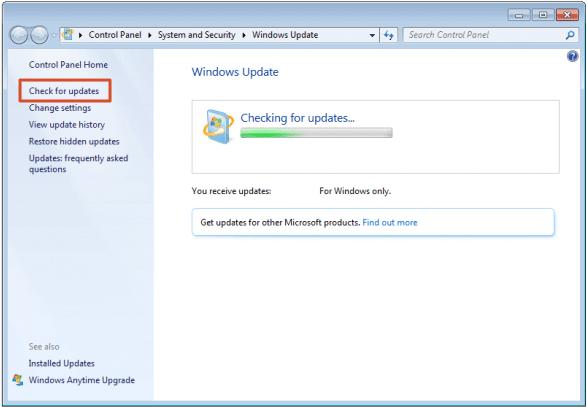 mettre à jour le système Windows