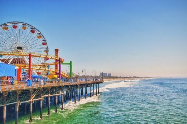 La jetée de Santa Monica à Los Angeles
