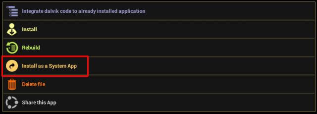 installer et configurer les applications du système