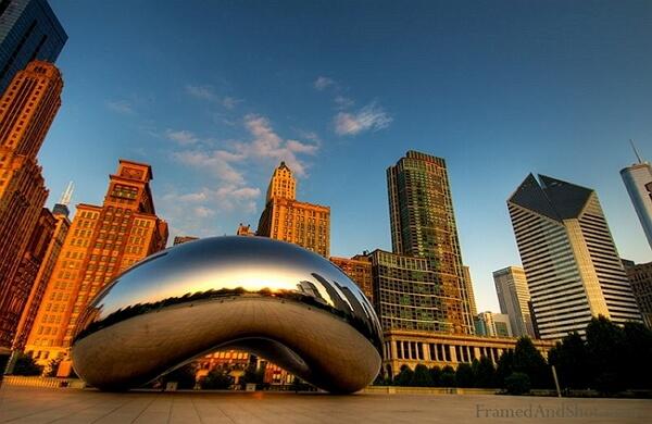 Millennium Park à Chicago aux États-Unis