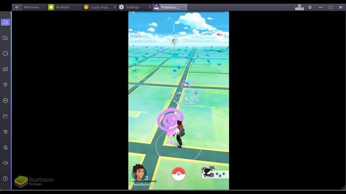 BlueStacks ouvrir Pokémon go