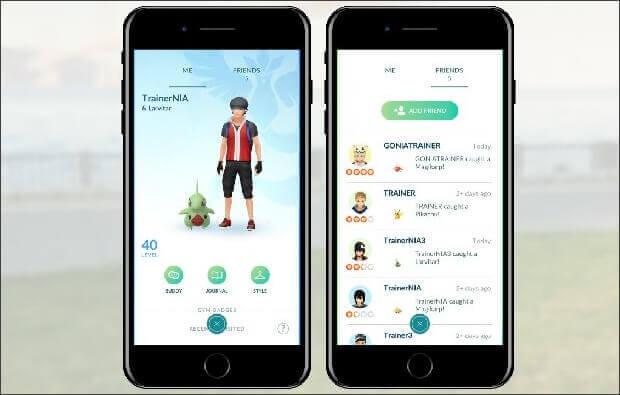 Amis de Pokémon GO