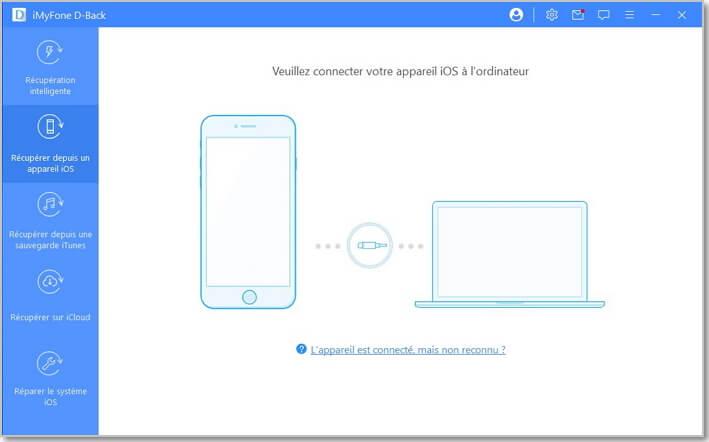 récupérer à partir d'un appareil iOS