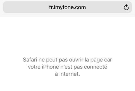 rafraîchir la page web dans Safari