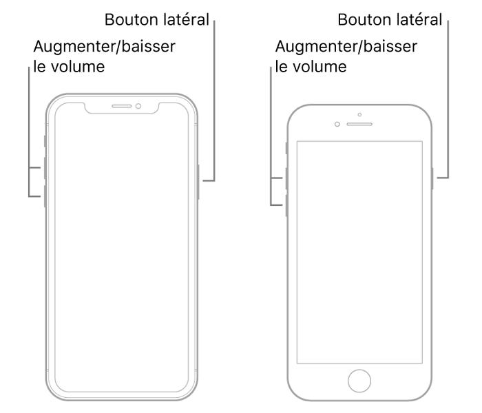 forcer le redémarrage d'iPhone