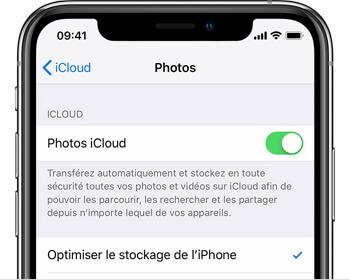 optimisez les photos et vidéos dans iCluod