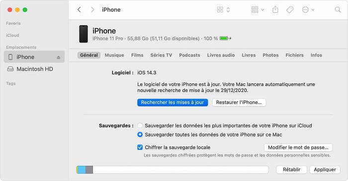 mettre à jour iPhone avec iTunes