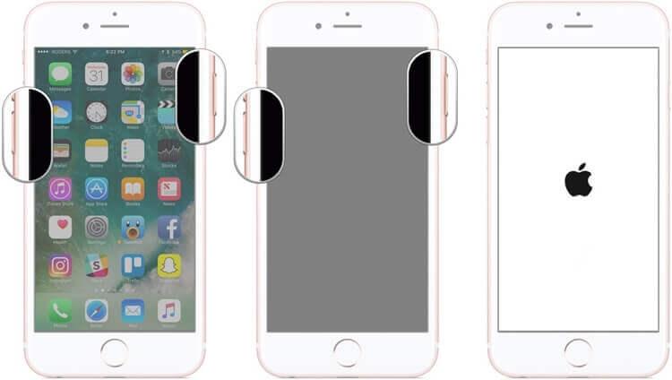 forcer la réinitialisation d'un iPhone 7